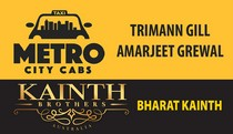 metro city cab and Kainth bros